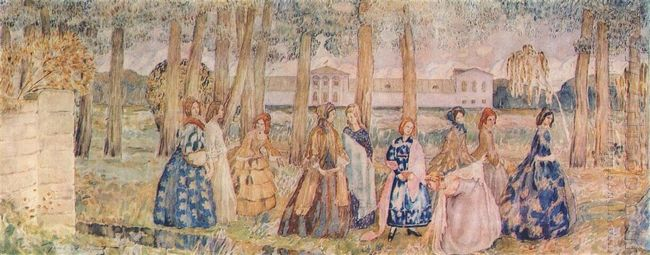 Autumn Evening Sketch For A Panel 1904