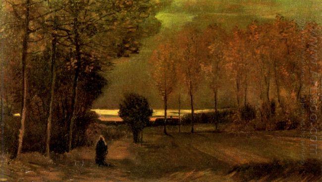 Autumn Landscape At Dusk 1885