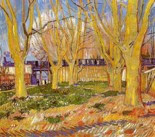Avenue Of Plane Trees Near Arles Station 1888