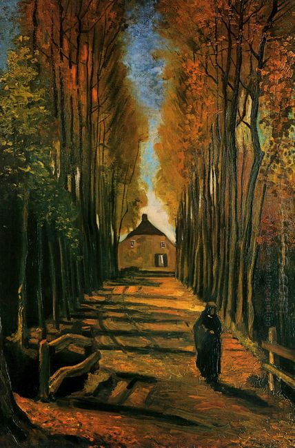 Avenue Of Poplars At Sunset 1884 1