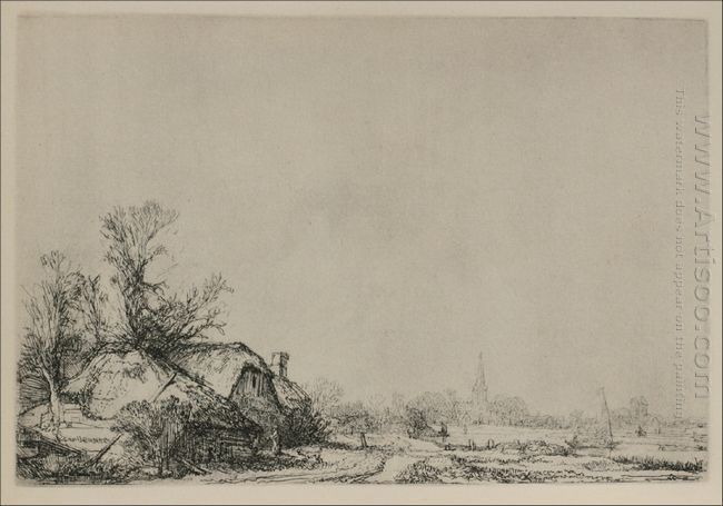 A Village With A River 1645