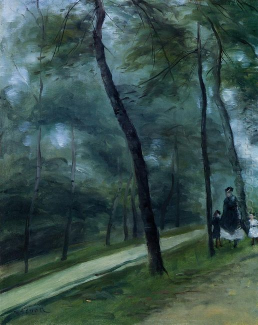 A Walk In The Woods Madame Lecoeur And Her Children 1870