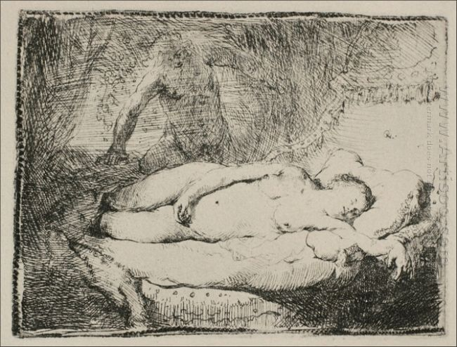 A Woman Lying On A Bed 1658