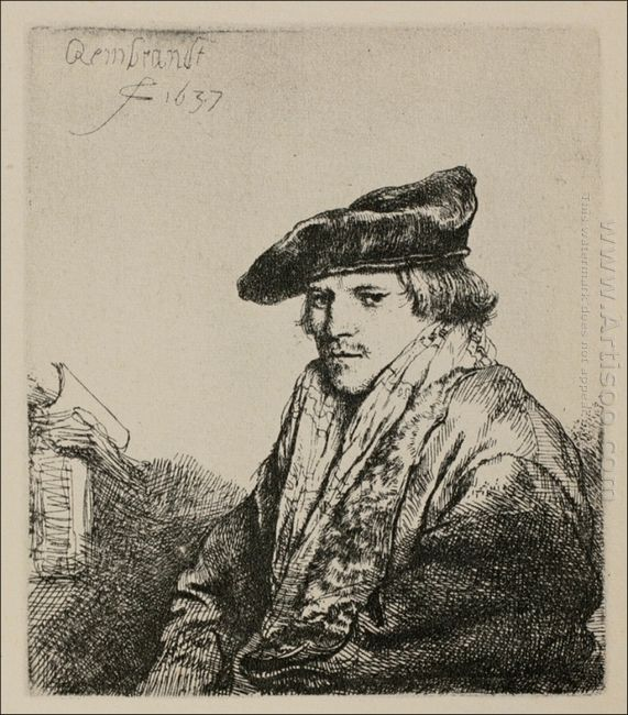 A Young Man Seated Turned To The Left 1637