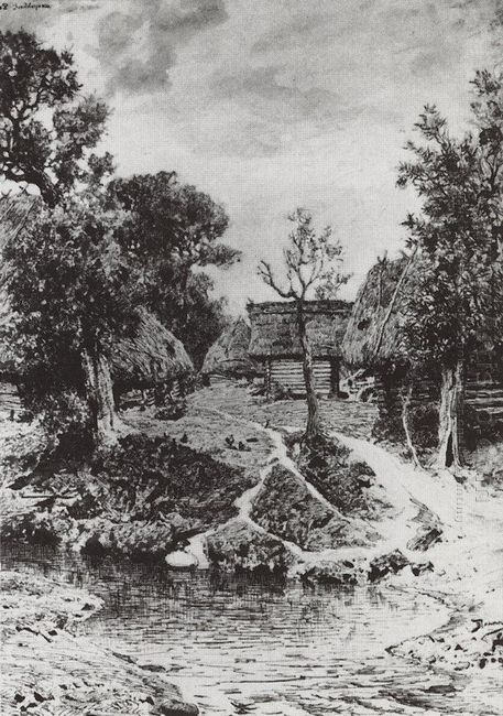 Backyard The Village Of Turgenev 1892