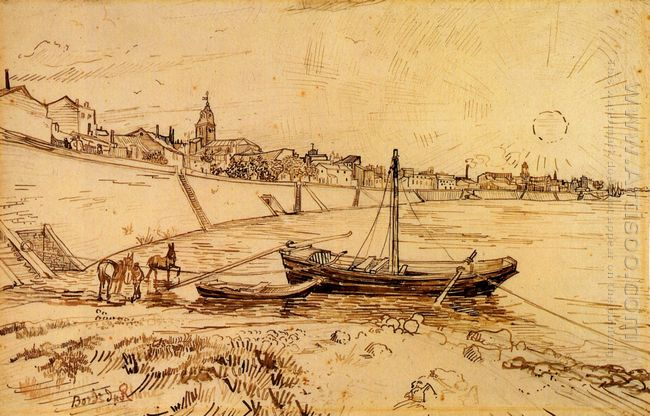 Bank Of The Rhone At Arles 1888