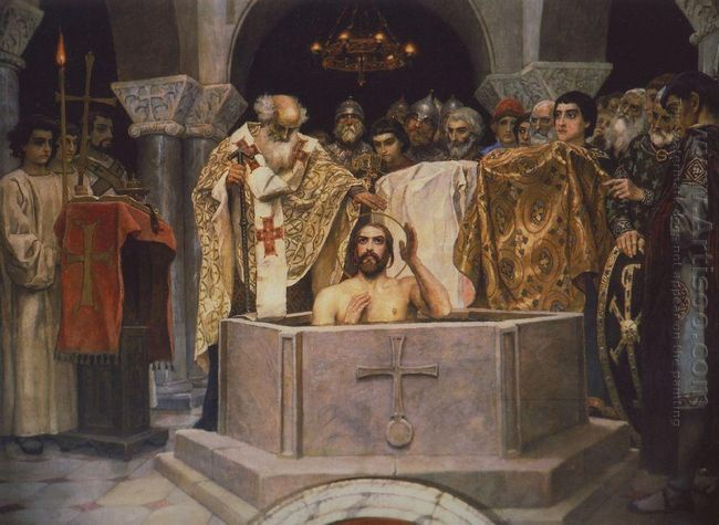 Baptism Of Prince Vladimir Fragment Of The Vladimir Cathedral In
