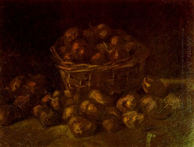Basket Of Potatoes 1885 1