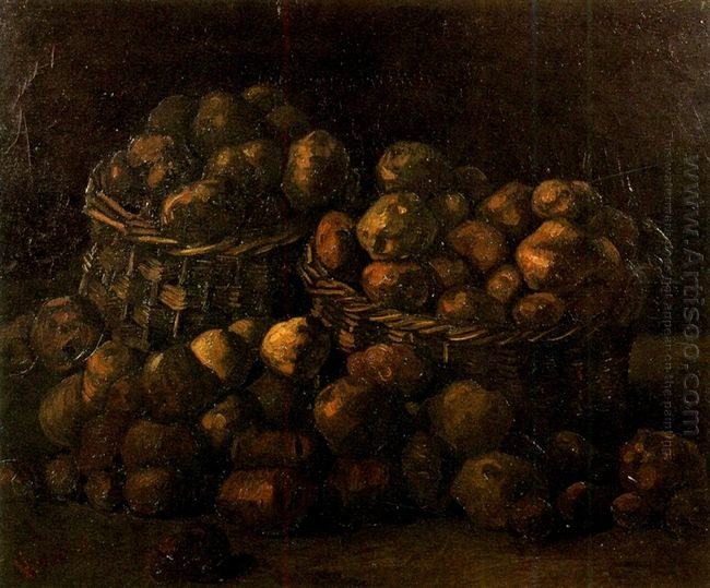 Baskets Of Potatoes 1885