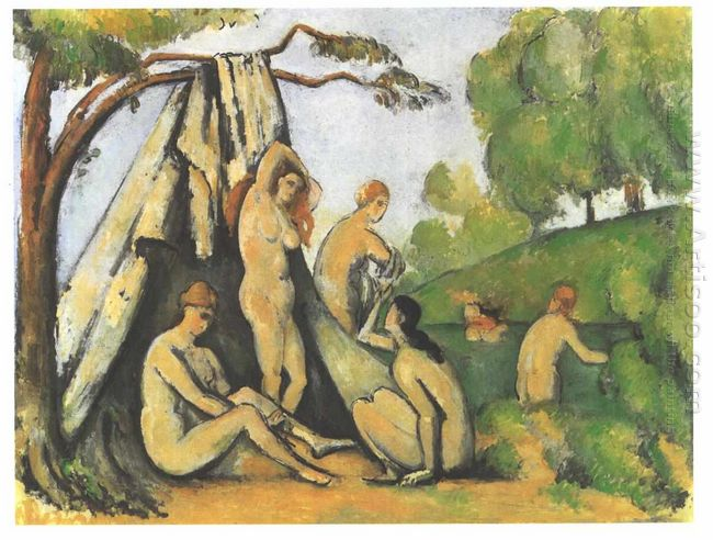 Bathers In Front Of A Tend