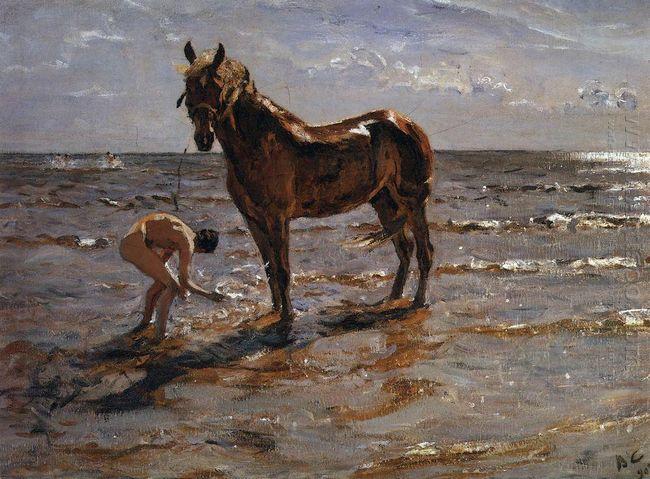 Bathing A Horse 1905
