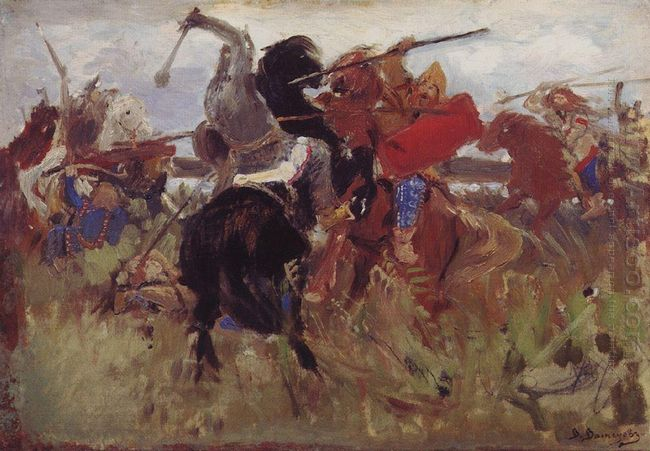 Battle Of The Scythians With The Slavs Sketch