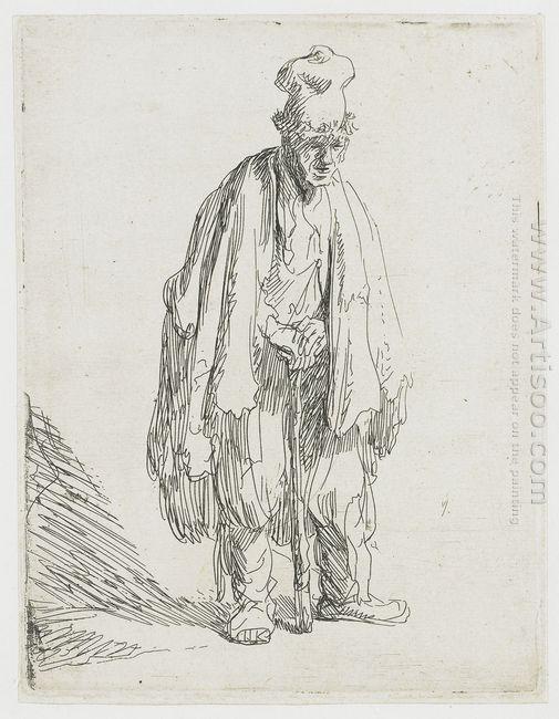 Beggar In A High Cap Standing 1629
