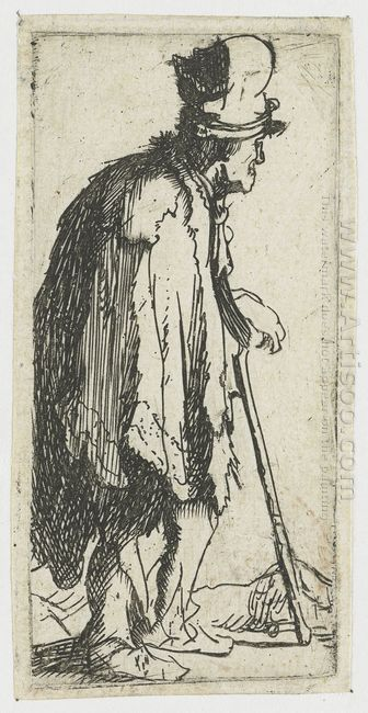 Beggar With A Crippled Hand Leaning On A Stick 1629