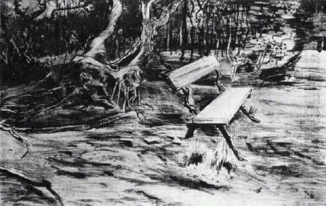 Bench In A Wood 1882