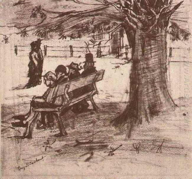Bench With Four Persons 1882