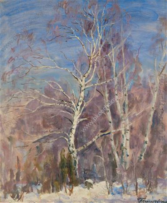 Birches In The Snow 1936