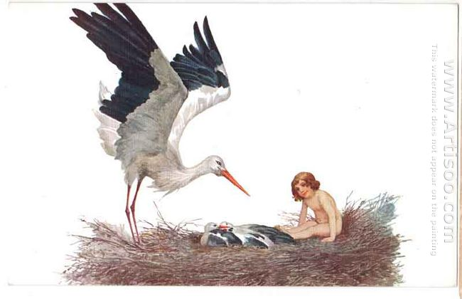 Blessed Be The House Where A Stork Nested 1917