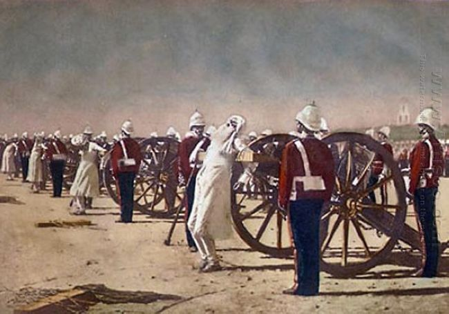 Blowing From Guns In British India 1884