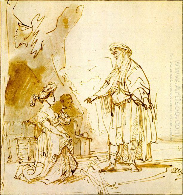 Boas Und Ruth 1640