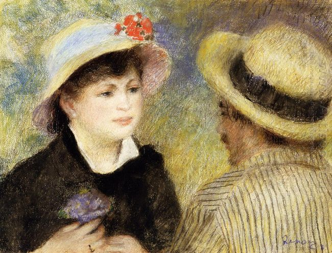 Boating Couple Aline Charigot And Renoir 1881