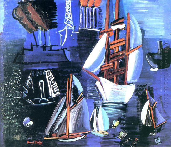 Boats In Le Havre 1926