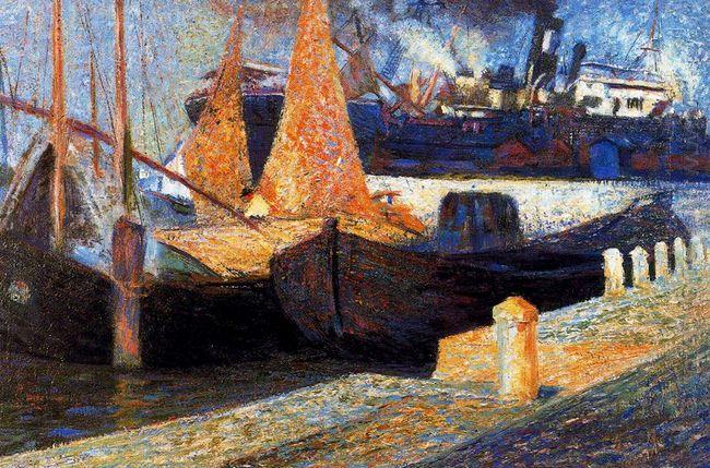 Boats In Sunlight 1907