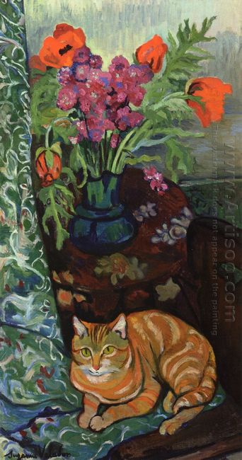 Bouquet And A Cat 1919
