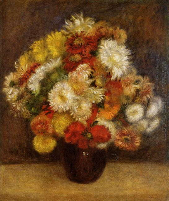 Bouquet Of Chrysanthemums 1881