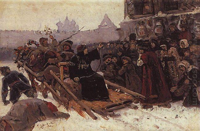 Boyarynya Morozova Study 1881
