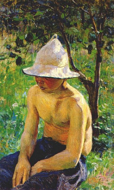 Boy In The Garden 1898
