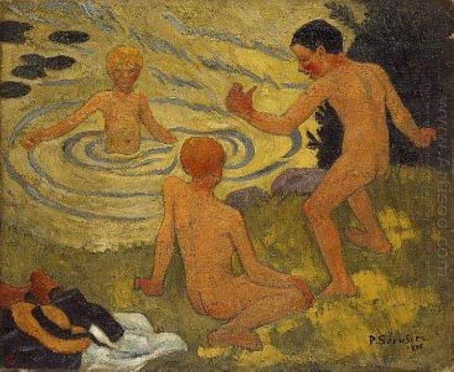 Boys On A River Bank 1906