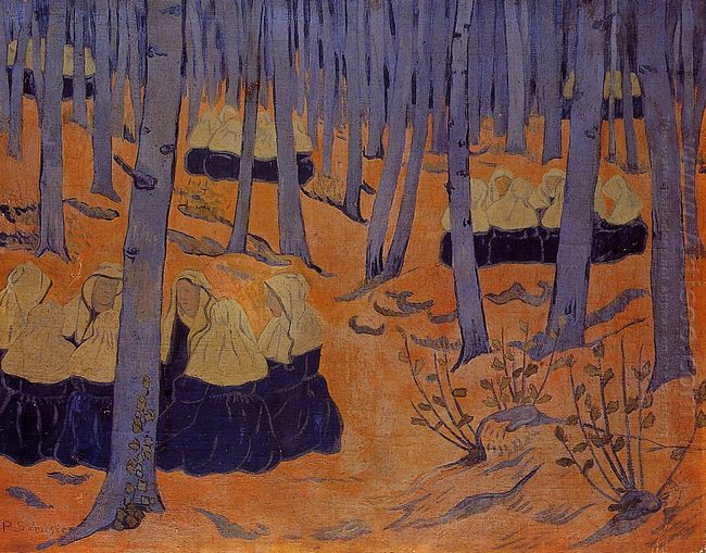 Breton Women The Meeting In The Sacred Grove