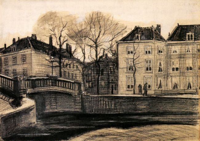 Bridge And Houses On The Corner Of Herengracht Prinsessegracht 1