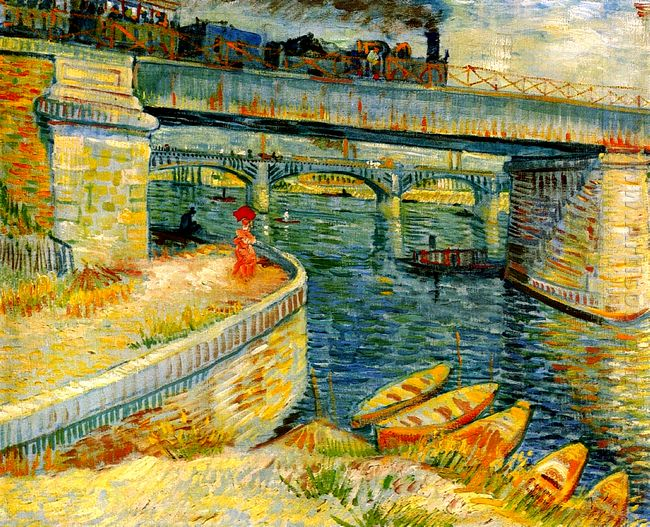 Bridges Across The Seine At Asnieres 1887