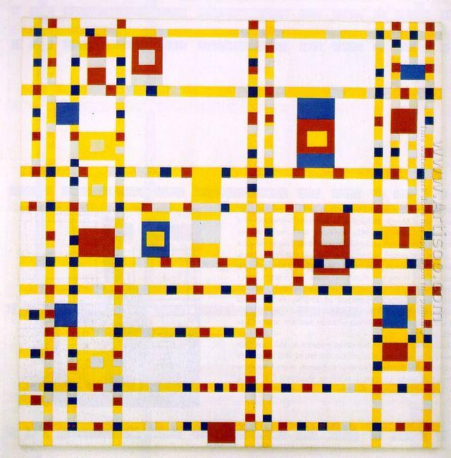 Broadway Boogie Woogie 1943 by Piet Mondrian