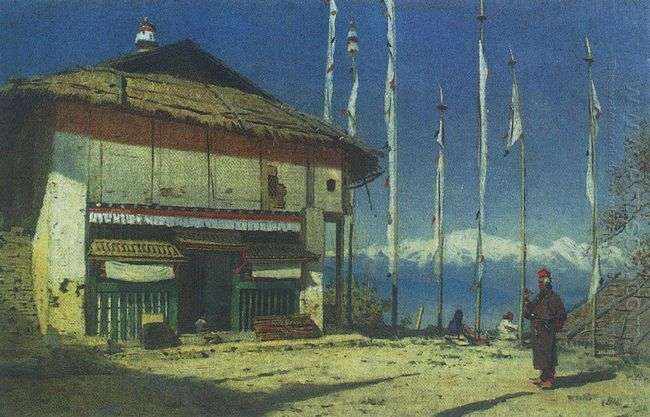 Buddhist Temple In Darjeeling Sikkim 1874