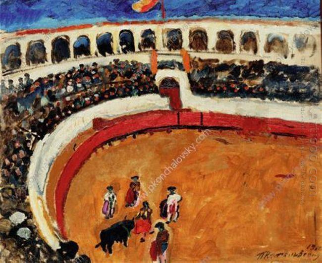 Bullfight In Sevilla 1910 1