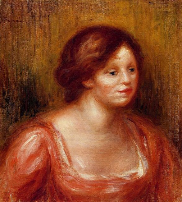 Bust Of A Woman In A Red Blouse