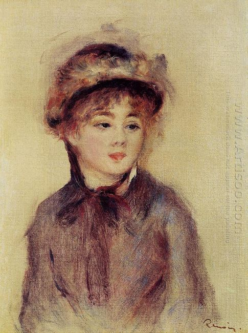 Bust Of A Woman Wearing A Hat 1881