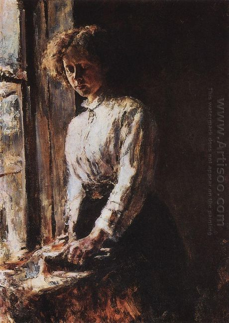 By The Window Portrait Of Olga Trubnikova 1886
