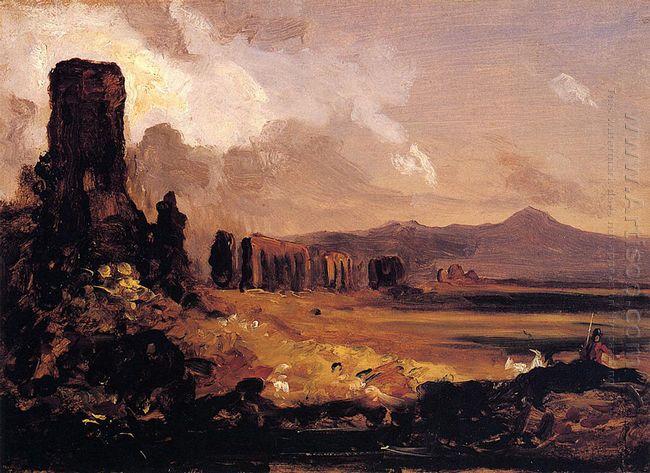 Campagna Di Roma Study For Aqueduct Near Rome 1832