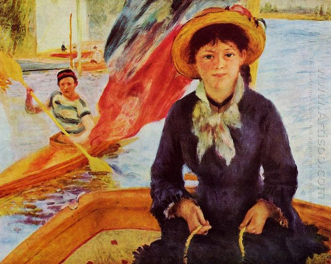 Canoeing Young Girl In A Boat 1877