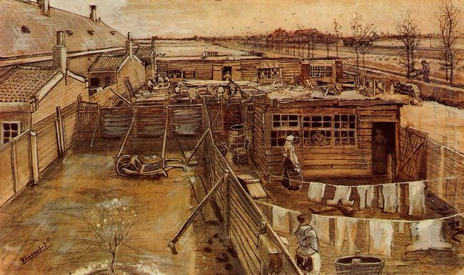 Carpenter S Workshop Seen From The Artist S Studio 1882