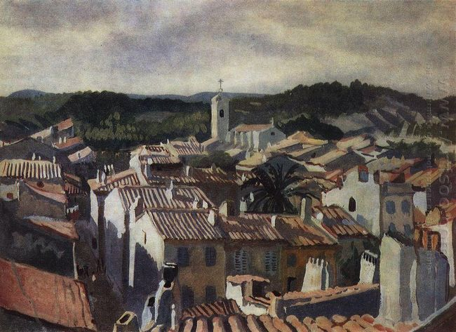 Cassis The Roofs Of The City 1928
