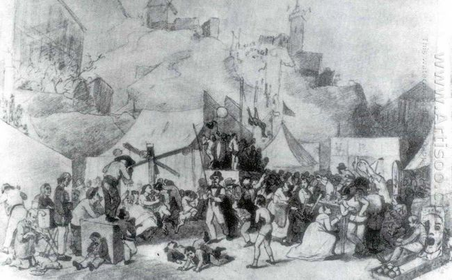 Celebration In The Outskirts Of Paris 1864