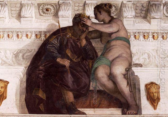 Chance Crowning A Sleeping Man 1561