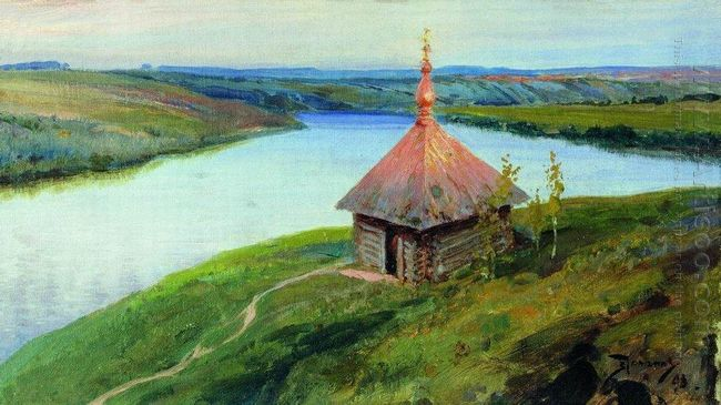Chapel On The Banks Of The Oka 1893