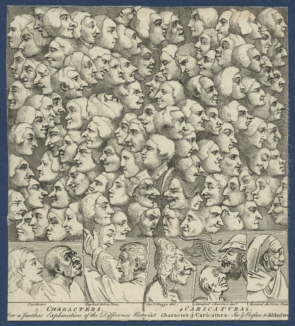 Characters And Caricaturas 1743
