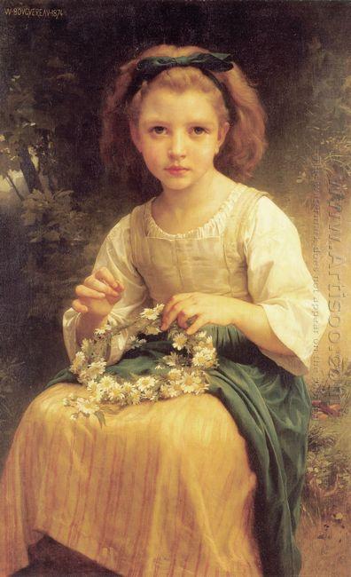 Child Braiding A Crown 1874
